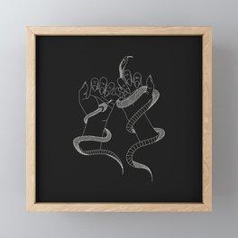 You and I - Snake Illustration Framed Mini Art Print