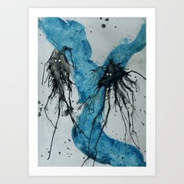 Ink monster- pair Art Print