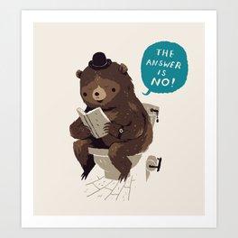 Does A Bear.. Art Print