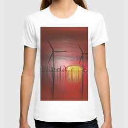 Windmills in the Sun (Digital Art) T-shirt
