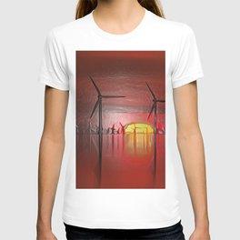Windmills in the Sun (Digital Art) T-shirt