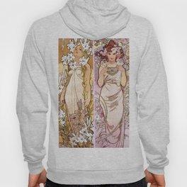 "Alfons Mucha, "" four flowers "" Hoody"