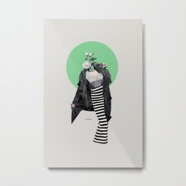 Retro Fashion Metal Print