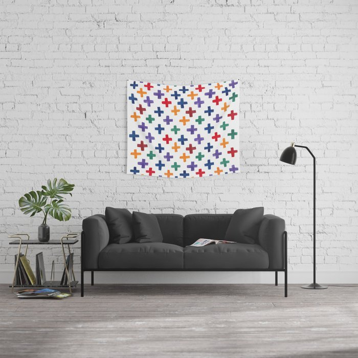 Plus One  Wall Tapestry