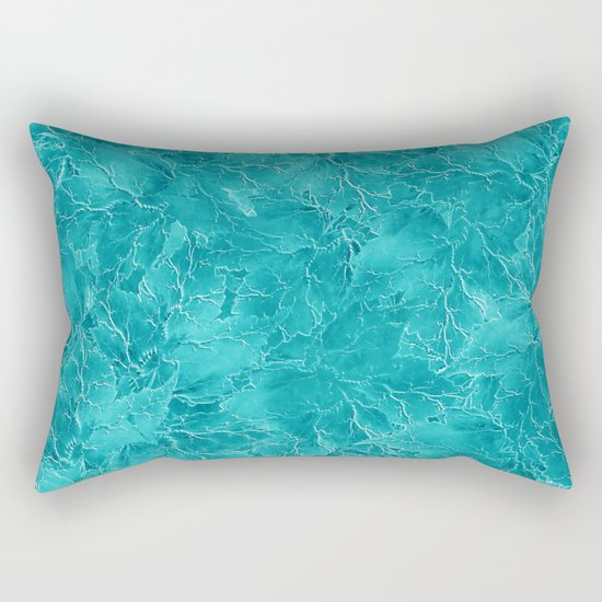 Frozen Leaves 21 Rectangular Pillow
