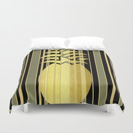 Pineapple And Stripes Duvet Cover