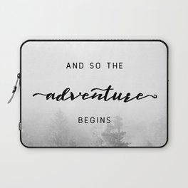 And So The Adventure Begins - New Day Laptop Sleeve