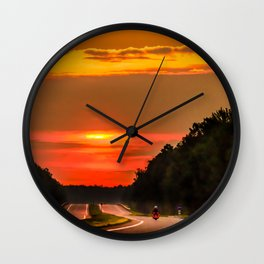 Road to the sun Wall Clock