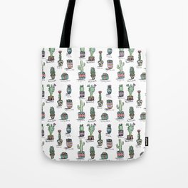 Cactus and Succulent Pattern Tote Bag