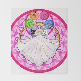 Princess of Heart and Moon Throw Blanket