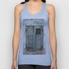 Closed Window Shutters in South Europe Unisex Tank Top