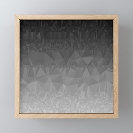 Black and Grey Ombre Framed Mini Art Print