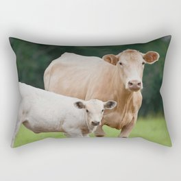 Mama and Baby | Rustic Farmhouse Animal Art Rectangular Pillow