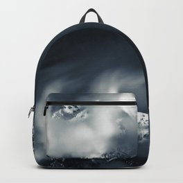 Darkness and chaos over the mountain Backpack