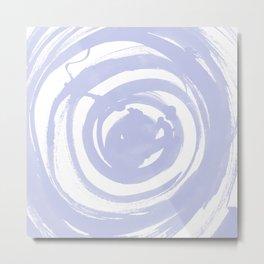 Swirl Pale Blue Metal Print