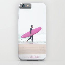 surfing beach vibes iPhone Case