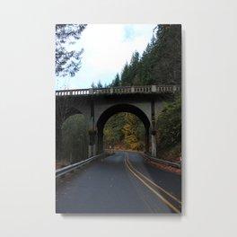 Bend in the Road Metal Print