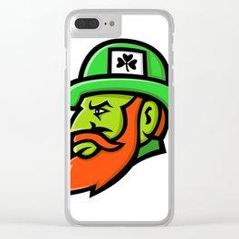 Leprechaun Head Mascot Clear iPhone Case