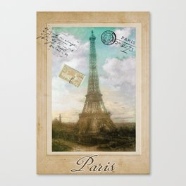 European Vacation Paris Canvas Print