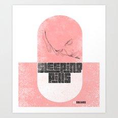 Sleeping pills Art Print
