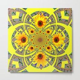 YELLOW SUNFLOWER  ART MODERN ART PATTERN Metal Print