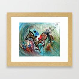 Blue Dream In The Ocean In Abstract Modern Framed Art Print