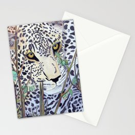 Never Resting - Leopard by Maureen Donovan Stationery Cards