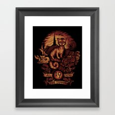 Nineteen Framed Art Print