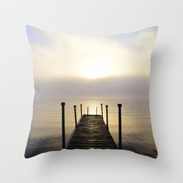 Into the Light: Sunrise, First Full Day of Fall Throw Pillow