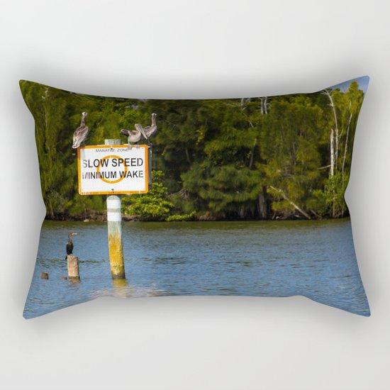 Manatee Zone Rectangular Pillow