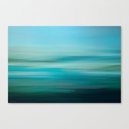 Greenish Blue Sea Canvas Print