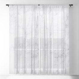 Luxury White Marble Sheer Curtain