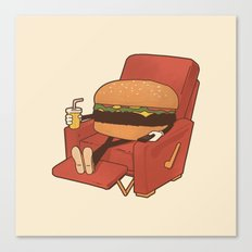 Lunch Break. Canvas Print