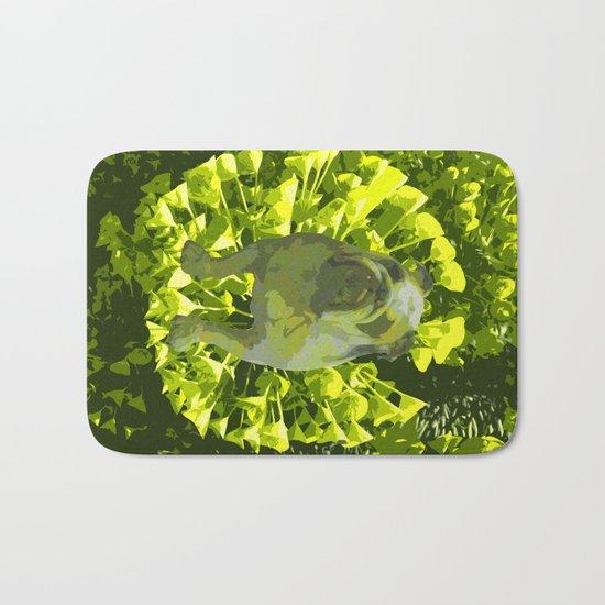 Green Pug Bath Mat
