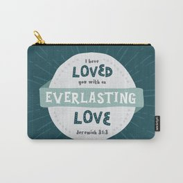 """""""Everlasting Love"""" Hand-Lettered Bible Verse Carry-All Pouch"""