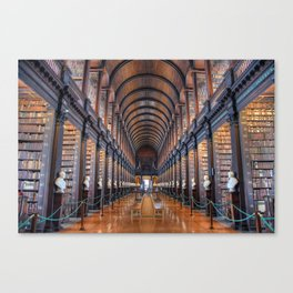The Long Room at Trinity College Canvas Print