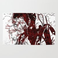 daryl Area & Throw Rugs featuring Walking Dead: Daryl by André Joseph Martin