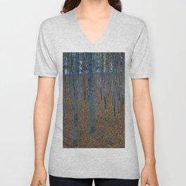 Gustav Klimt - Beech Grove Unisex V-Neck