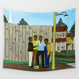 American American Masterpiece 'Harmonizing' portrait painting by Horace Pippin Wall Tapestry
