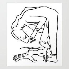 Bear Man to the Rescue Art Print