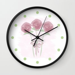 Love Your Roses Wall Clock