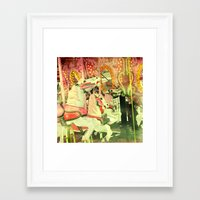 carousel Framed Art Prints featuring Carousel by elle moss