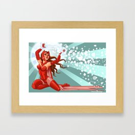 Scarlet Witch Pin-Up Framed Art Print
