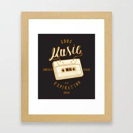 Good Music Cassette Framed Art Print