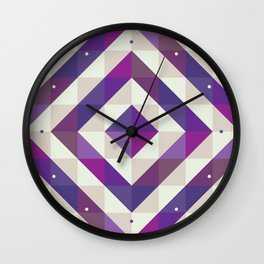 Patchwork Purples Wall Clock