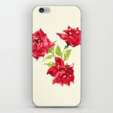 Three Red Roses iPhone & iPod Skin