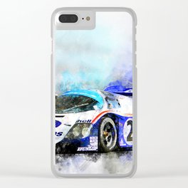 956 Le Mans, Jochen Mass Clear iPhone Case