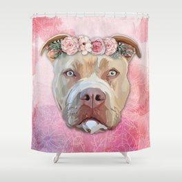 Pretty Pitbull Shower Curtain