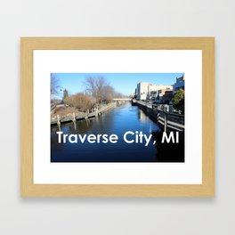 Traverse City, Michigan - Boardman River Framed Art Print