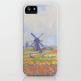 "Claude Monet ""Tulip Fields near The Hague"" iPhone Case"